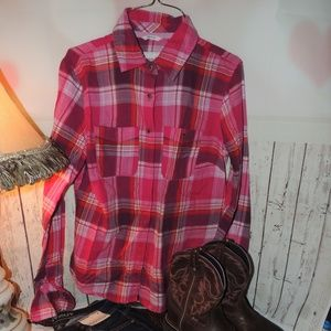 Areopostale signature pink plaid medium